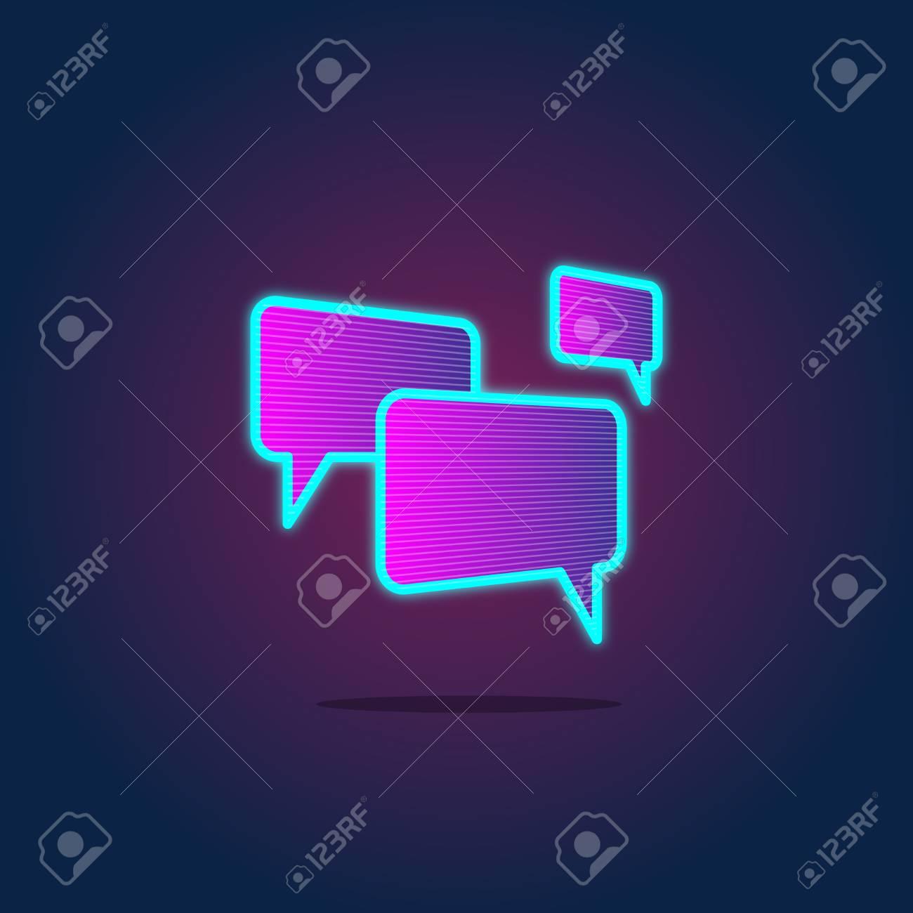 Speech Bubble Chatting Icon Concept - 71679531