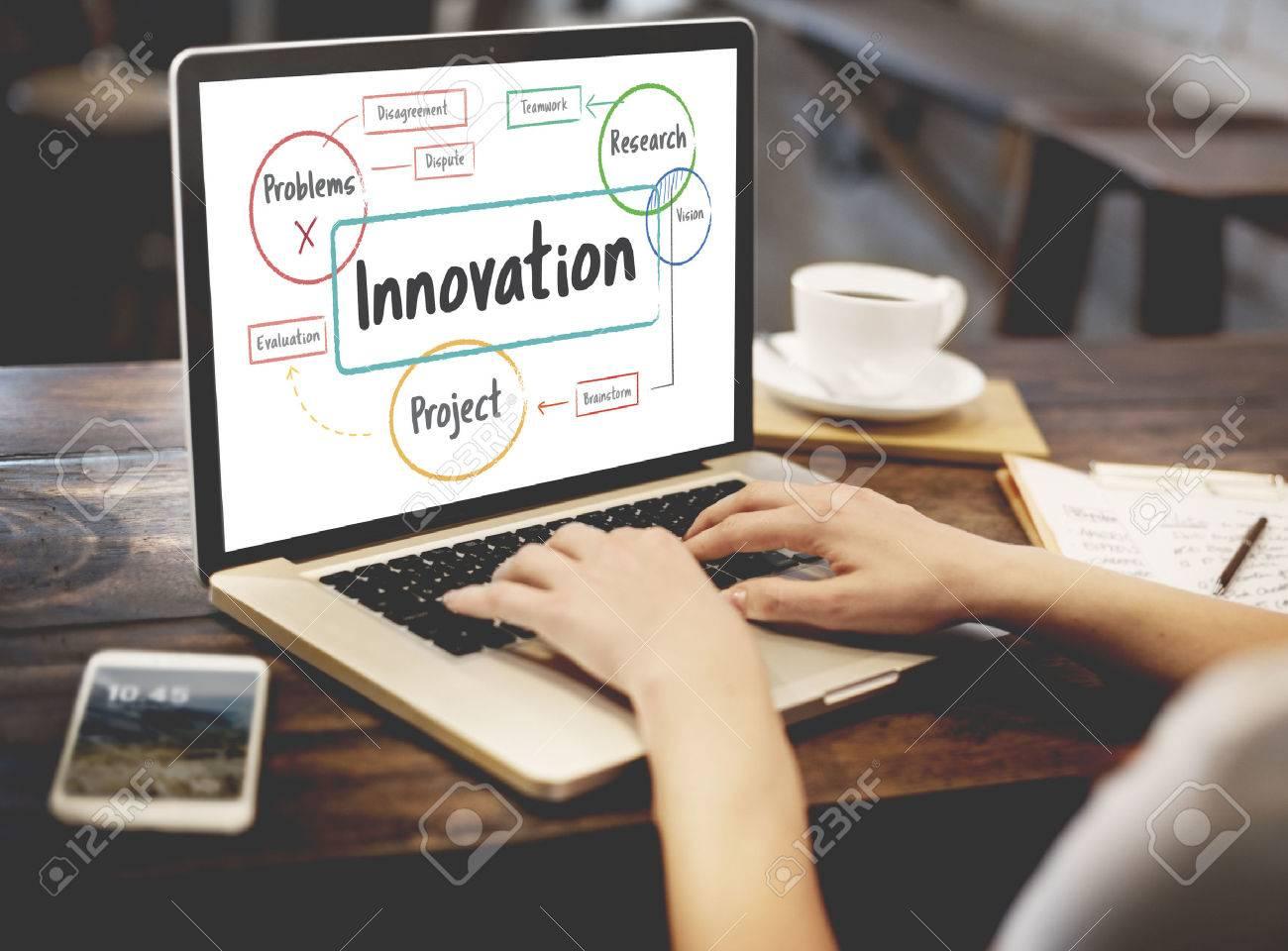 Inspiration idées créatives Brainstorming Concept Banque d'images - 73261014