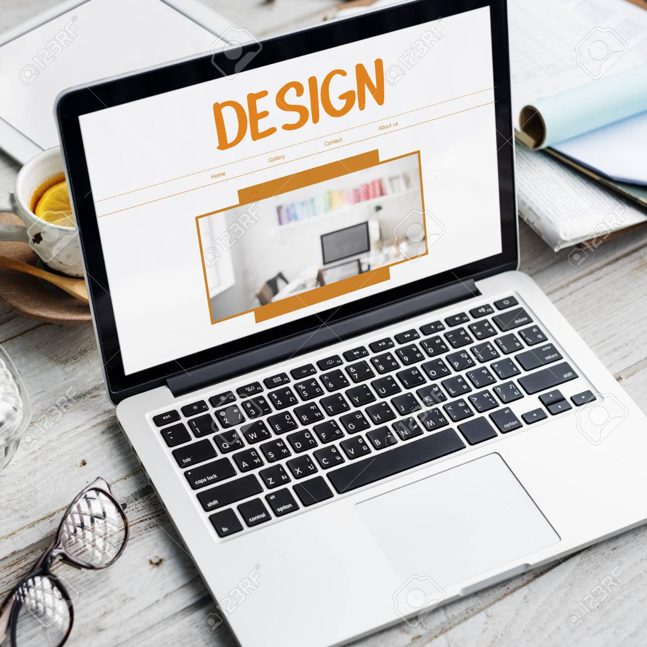 Design Creative Drawing Model Objective Stock Photo - 74364009