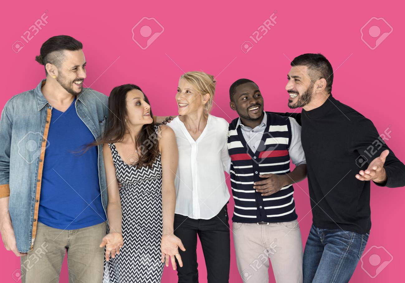 People Friendship Smiling Happiness Togetherness - 76894323
