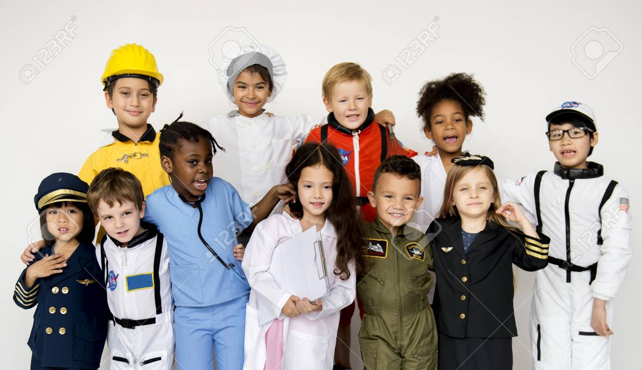 Group Of Kids With Career Uniform Dream Occupation Stock Photo Picture And Royalty Free Image Image 79587185