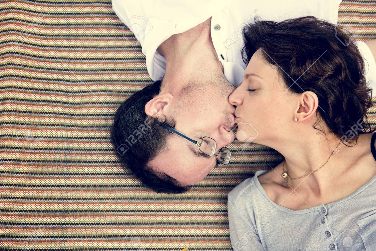 Husband Wife Kiss Romance Lifestyle Stock Photo Picture And Royalty