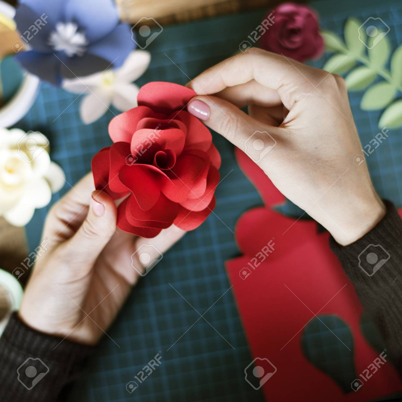 People making paper craft flower art stock photo picture and people making paper craft flower art stock photo 80936062 mightylinksfo