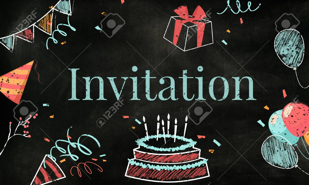 Celebration Birthday Party Surprise Events Icon And Word Stock Photo