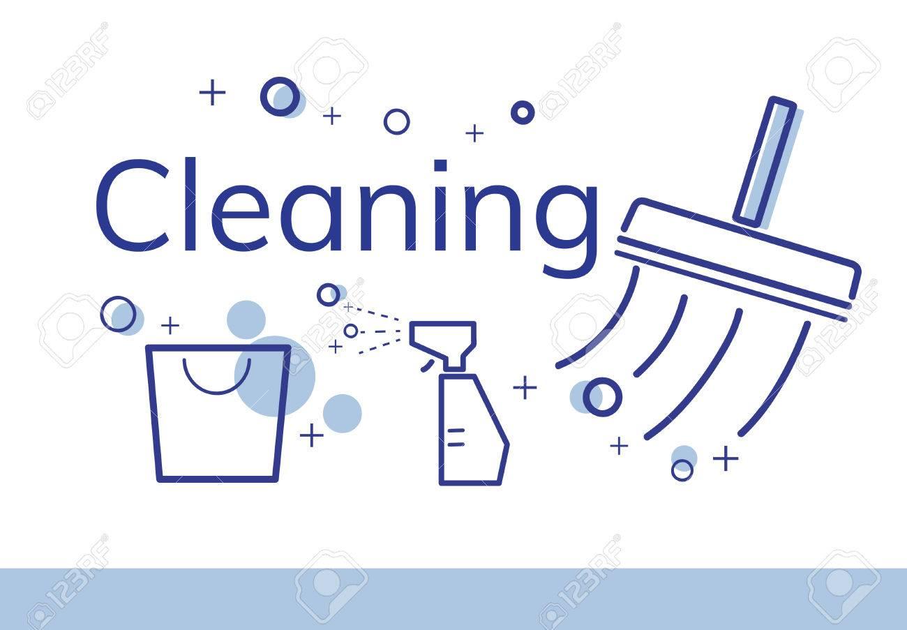 衛生的な清掃衛生のイラスト の写真素材・画像素材 Image 82397884.