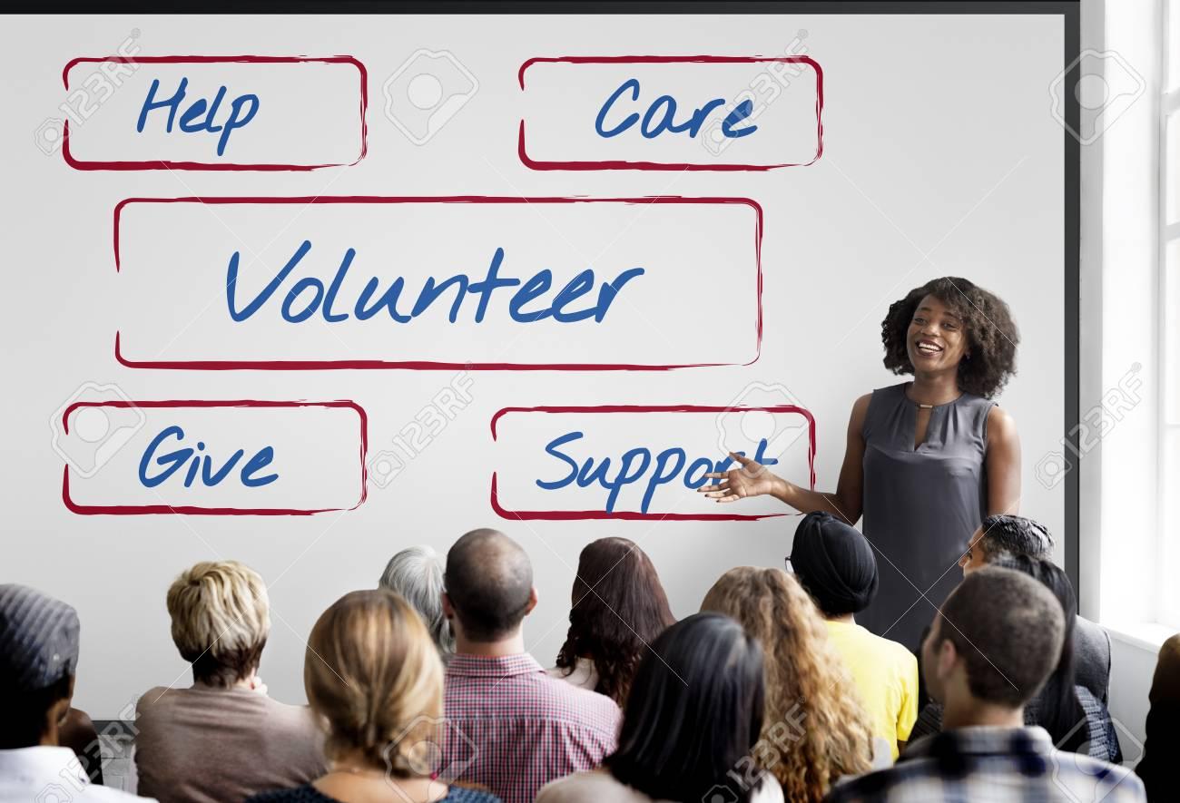 Community Donations Fundraising Volunteer Concept - 82702861
