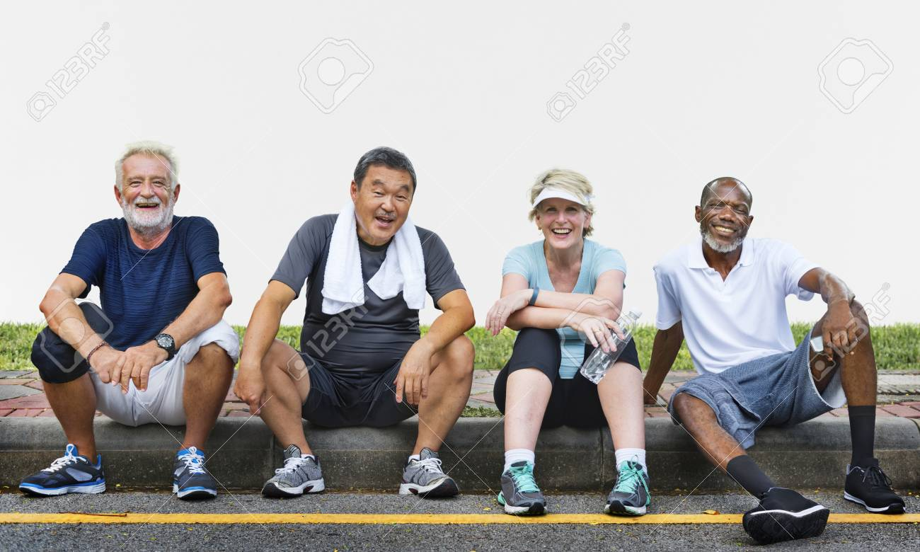 Senior Group Friends Exercise Relax Concept - 89601314
