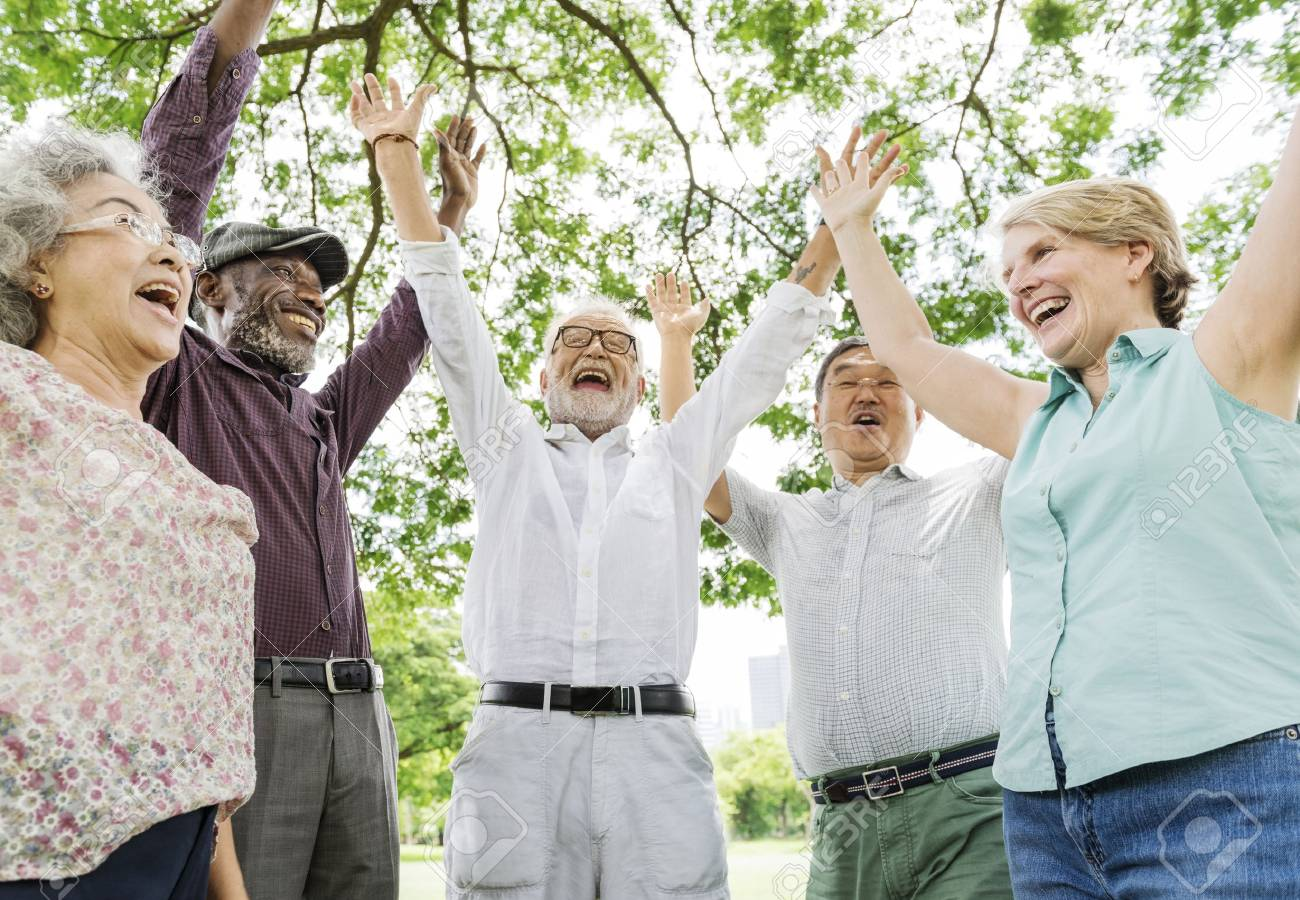 Group of Senior Retirement Friends Happiness Concept - 89600477