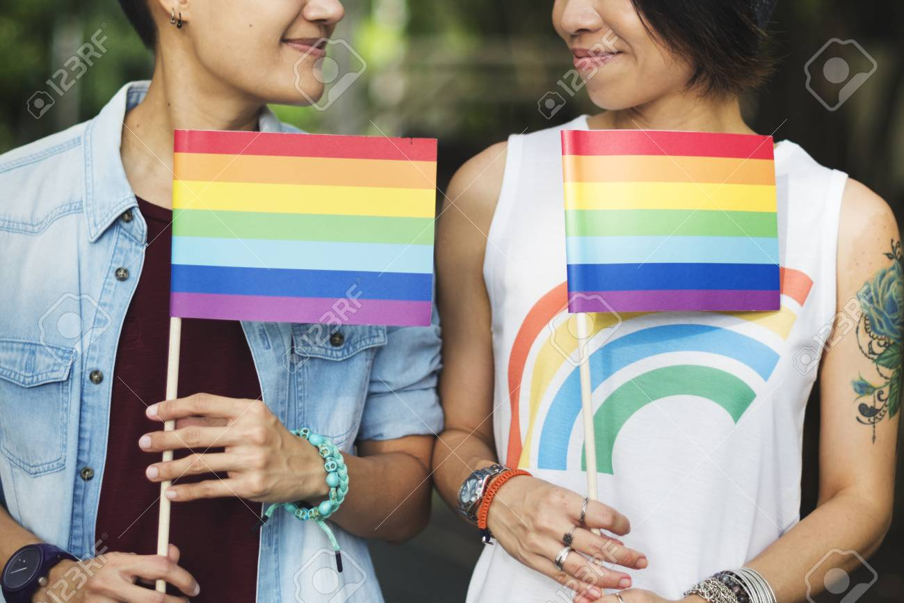 lgbt asian lesbian couple stock photo, picture and royalty free