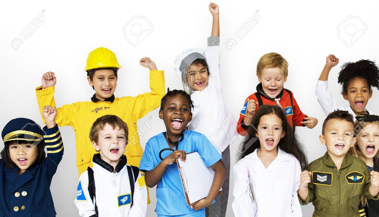Group Of Kids With Career Uniform Dream Occupation Stock Photo Picture And Royalty Free Image Image 90813777