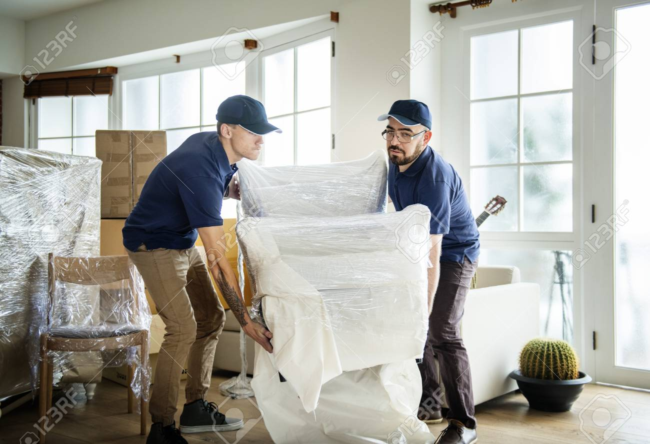Furniture delivery service concept stock photo 96684678