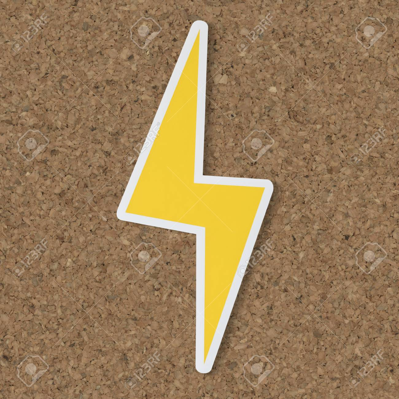 Yellow Electric Lightning Bolt Icon Stock Photo Picture And Royalty Free Image Image 99602751
