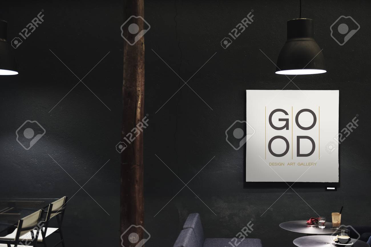 Signboard In A Dark Restaurant Mockup Stock Photo Picture And Royalty Free Image Image 102863960