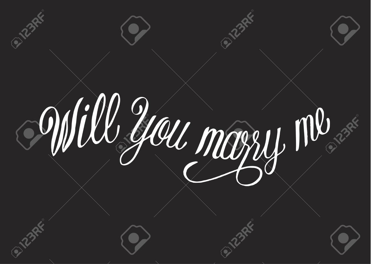 Will you marry me typography design - 105390547