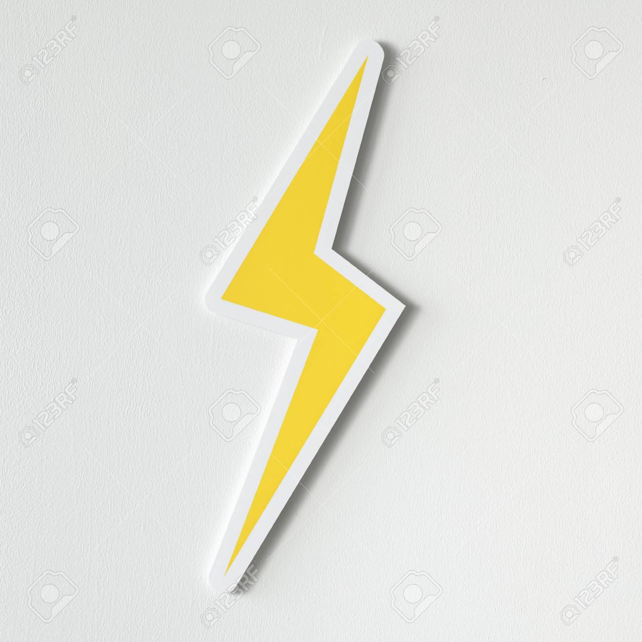 Yellow Electric Lightning Bolt Icon Stock Photo, Picture And ...