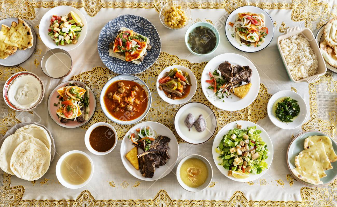 Dishes for a Ramadan feast - 116130371