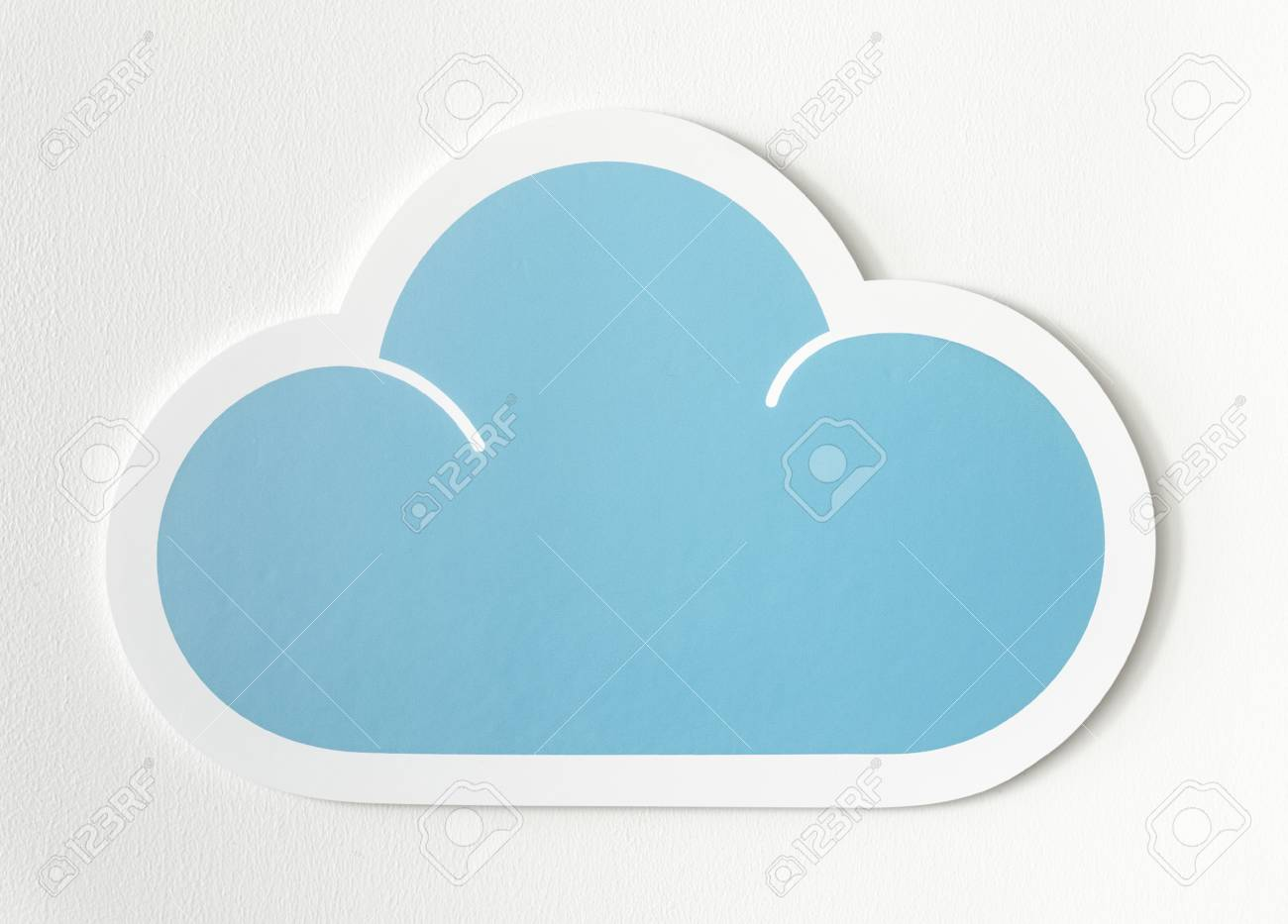 graphic about Printable Clouds Cut Out named cloud lower out -