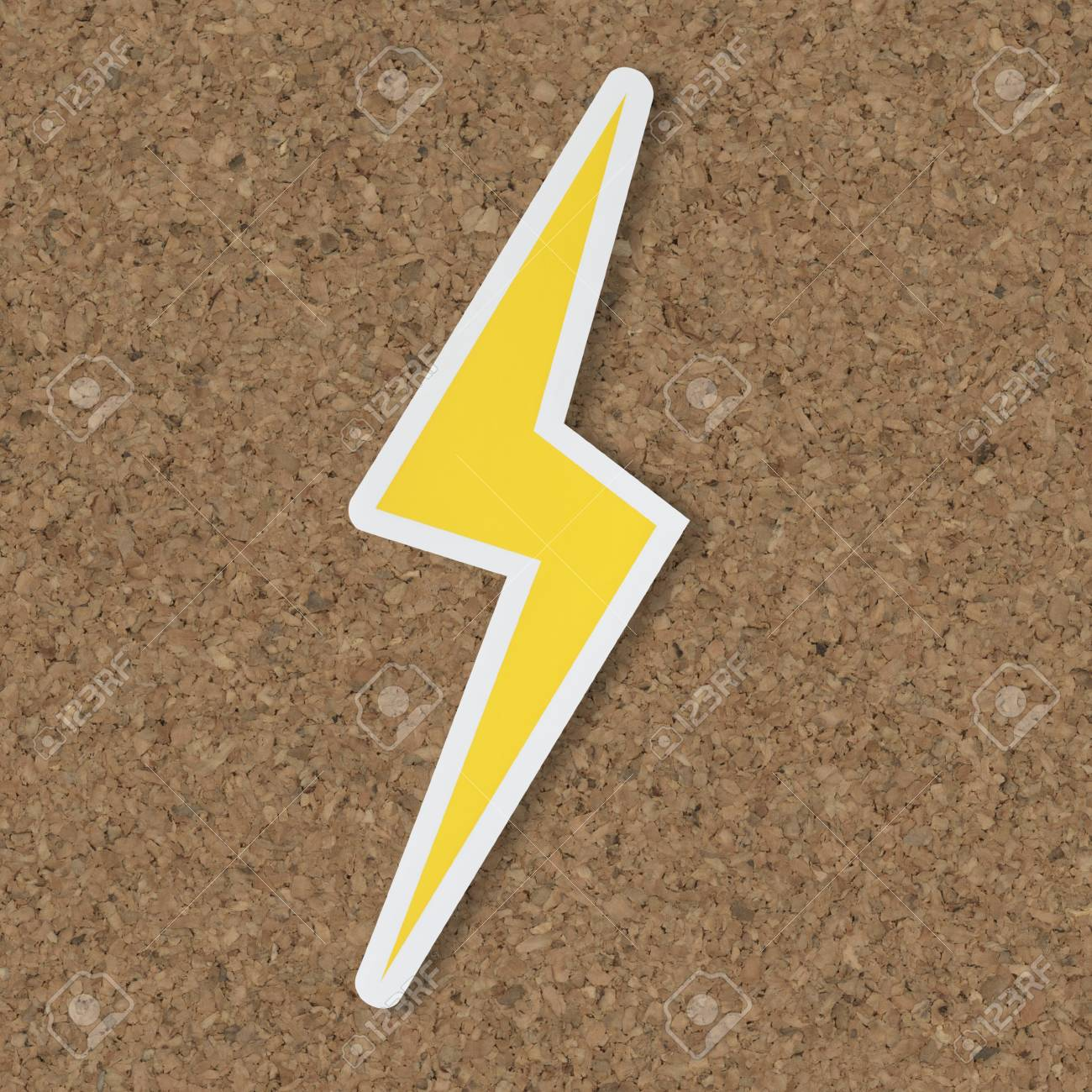 Yellow Electric Lightning Bolt Icon Stock Photo Picture And Royalty Free Image Image 109638160