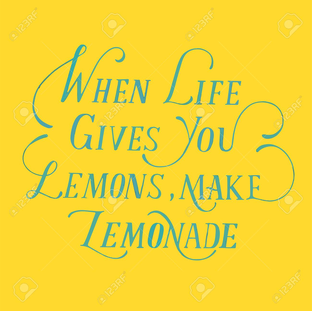 When Life Gives You Lemons Make Lemonade Stock Photo Picture And Royalty Free Image Image 109644161