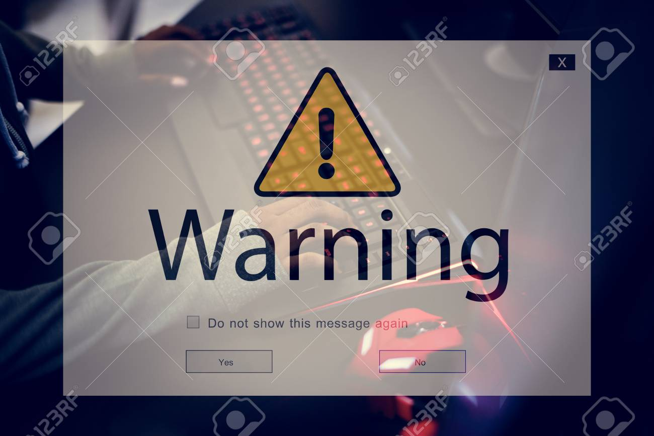 warning pop up computer