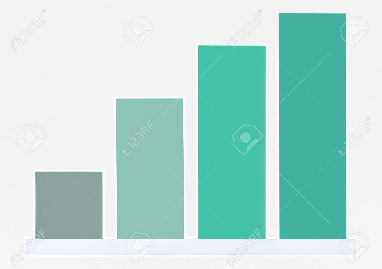 Colorful growth graph icon isolated - 111954876