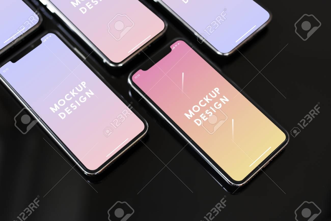 Premium mobile phone screen mockup template - 112150469