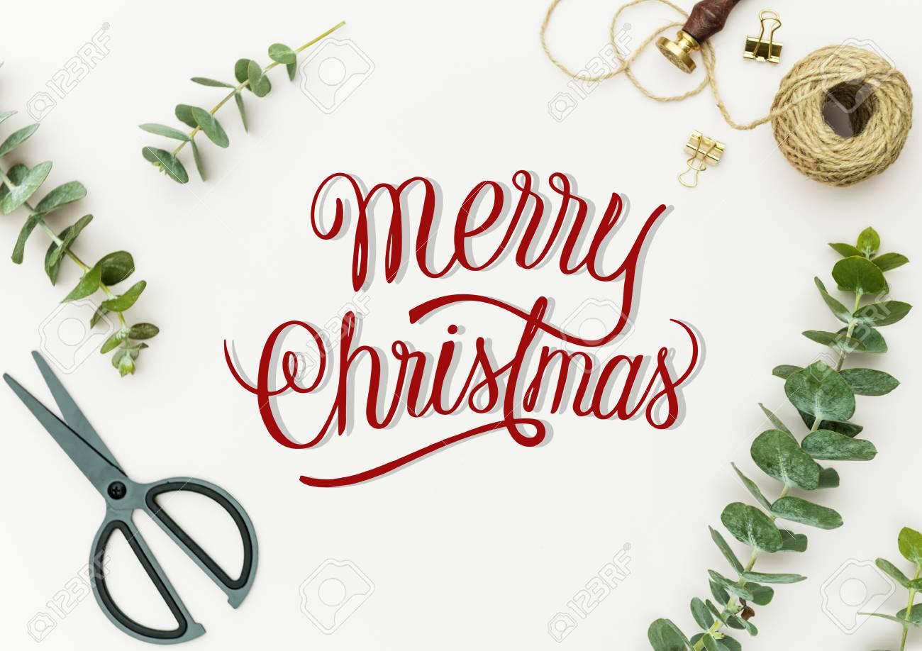 Christmas holiday greeting design mockup - 113918763