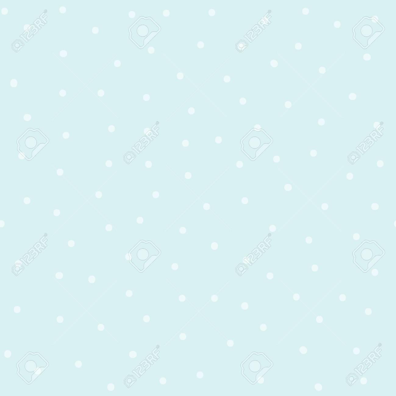 Seamless blue polka dot pattern vector - 126250666