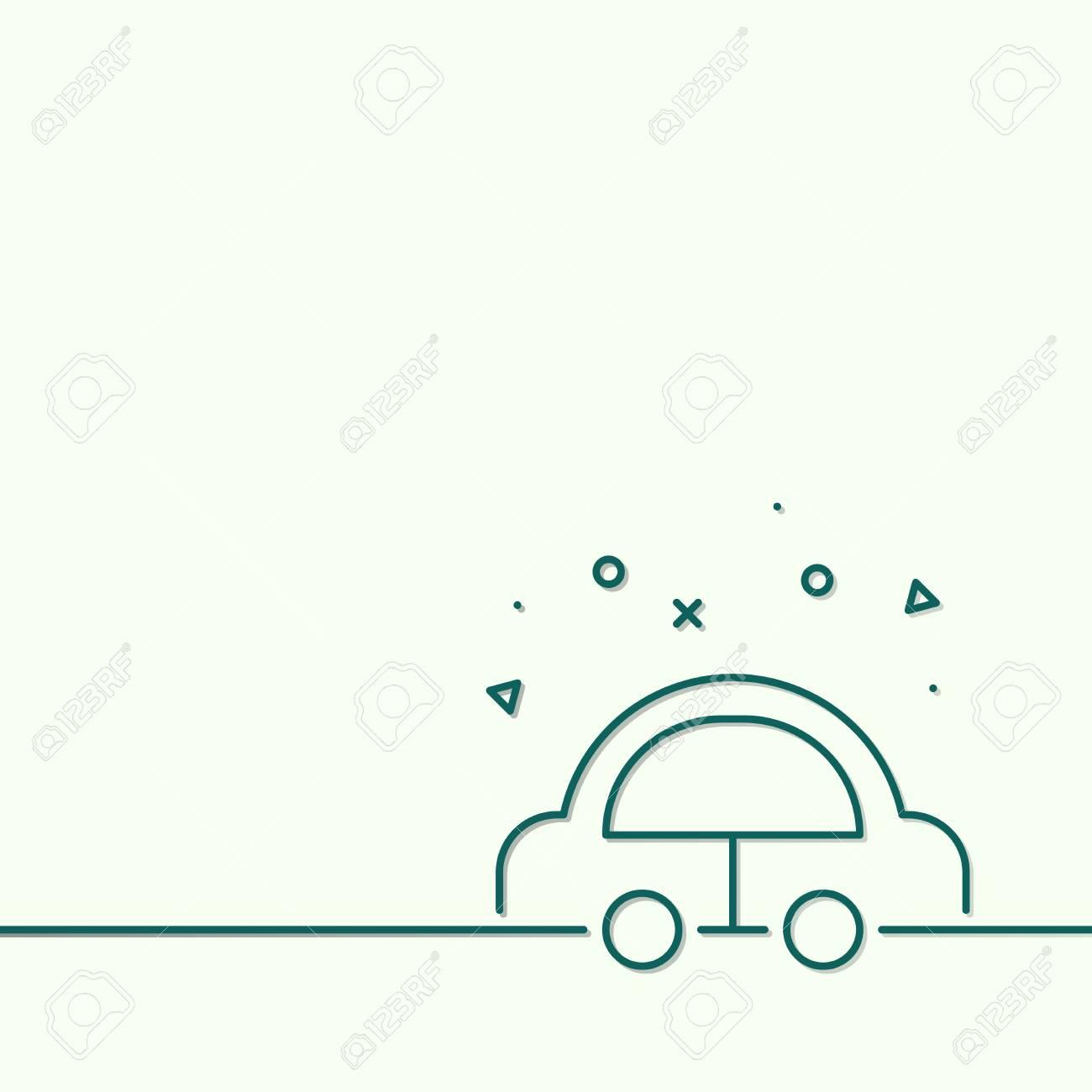 Drive an eco friendly hybrid car vector - 125971023