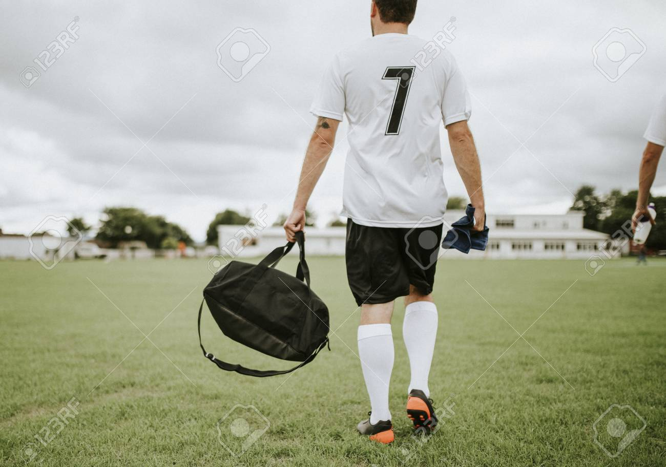 Football player ready for practice - 115675165