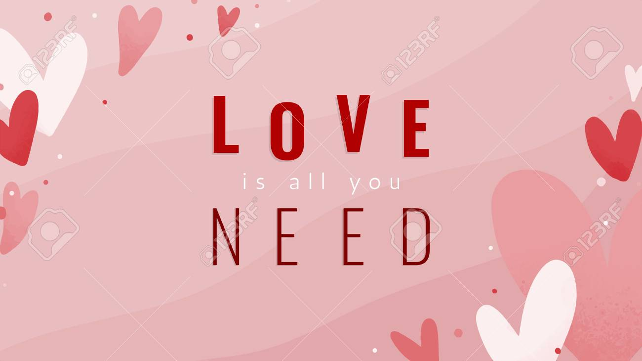 Love is all you need text design - 125376309