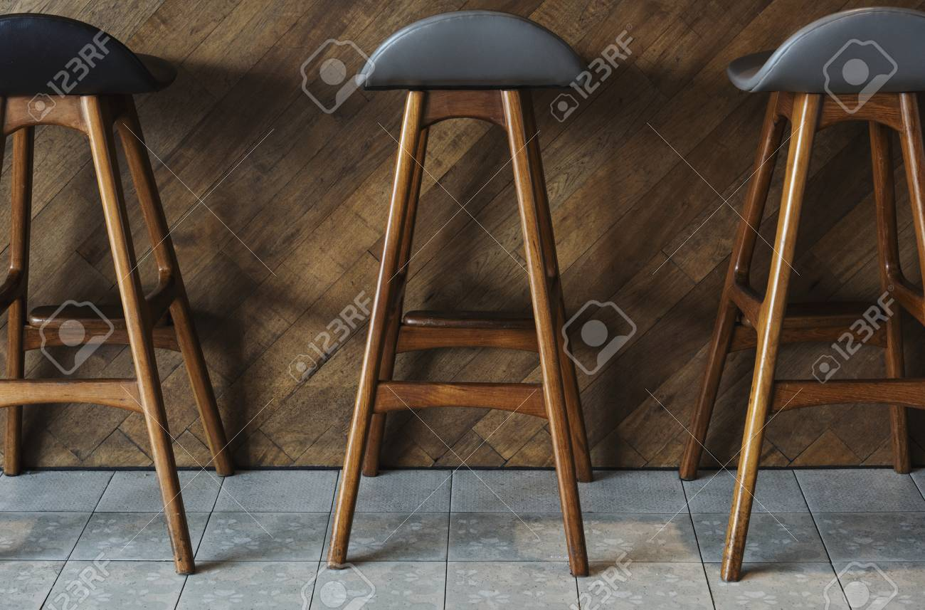 Image of: Modern Tall Wooden Bar Stools Stock Photo Picture And Royalty Free Image Image 116611765