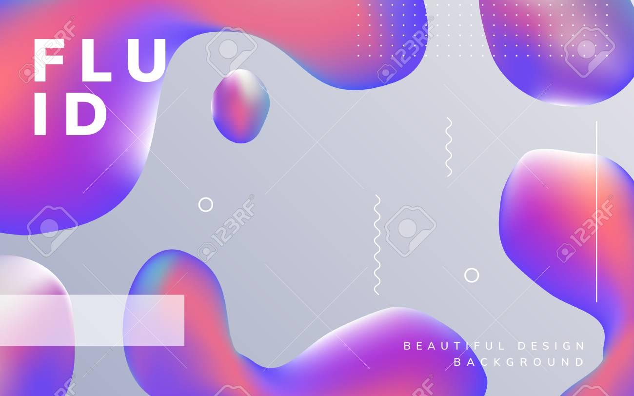 Colorful fluid gradient background vector - 125353723