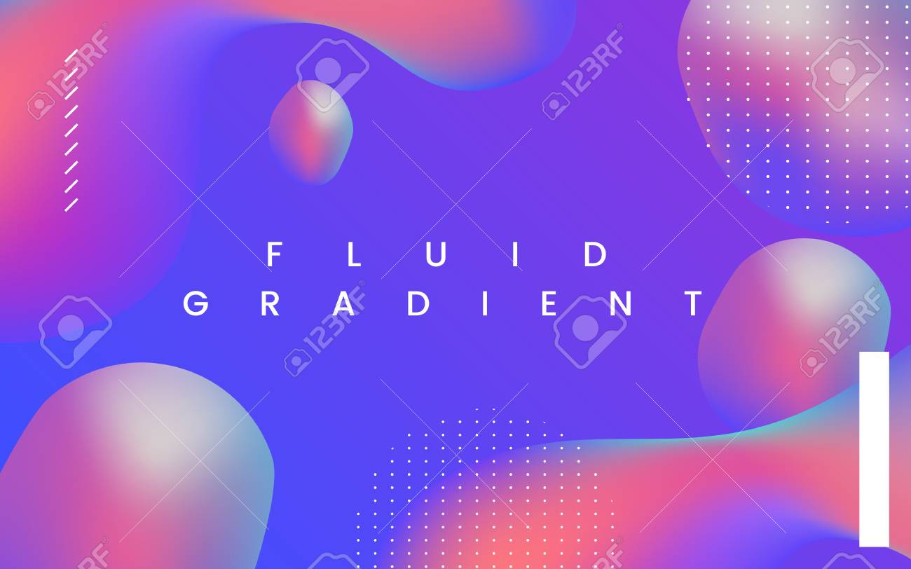 Colorful fluid gradient background vector - 125353758