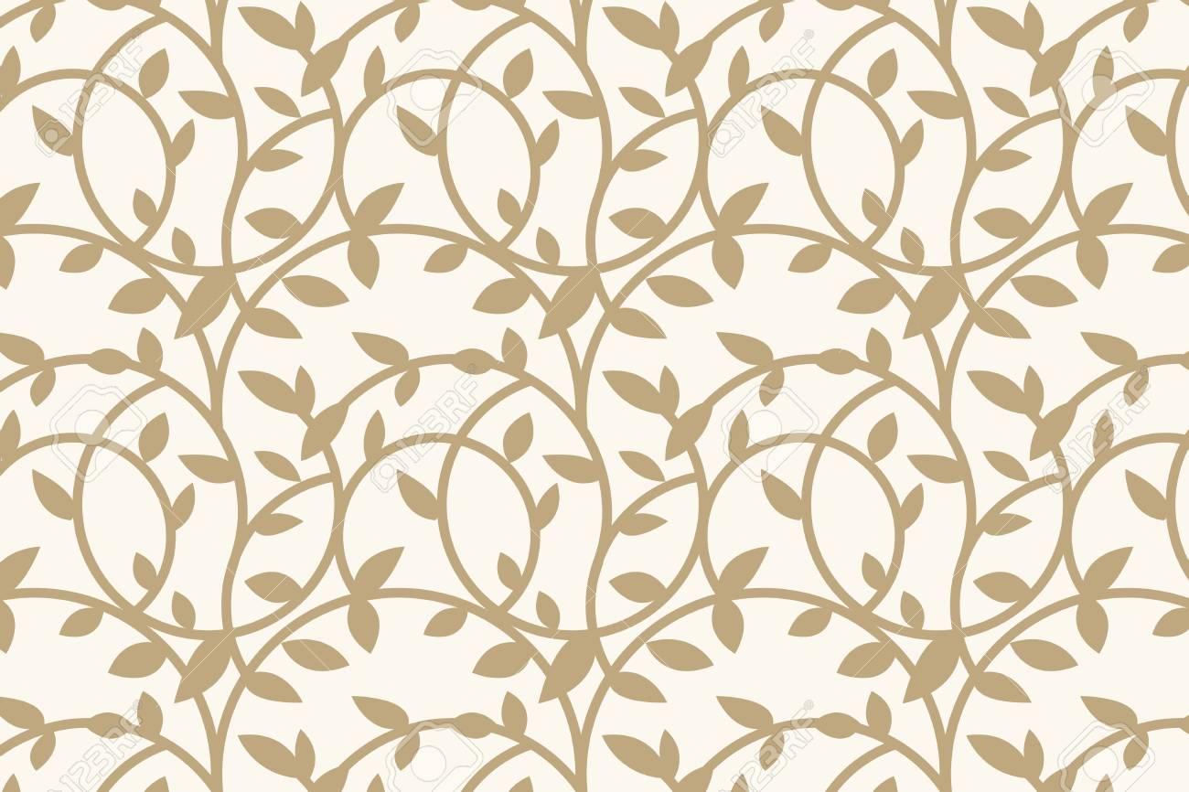 Gold floral patterned background vector - 125353775