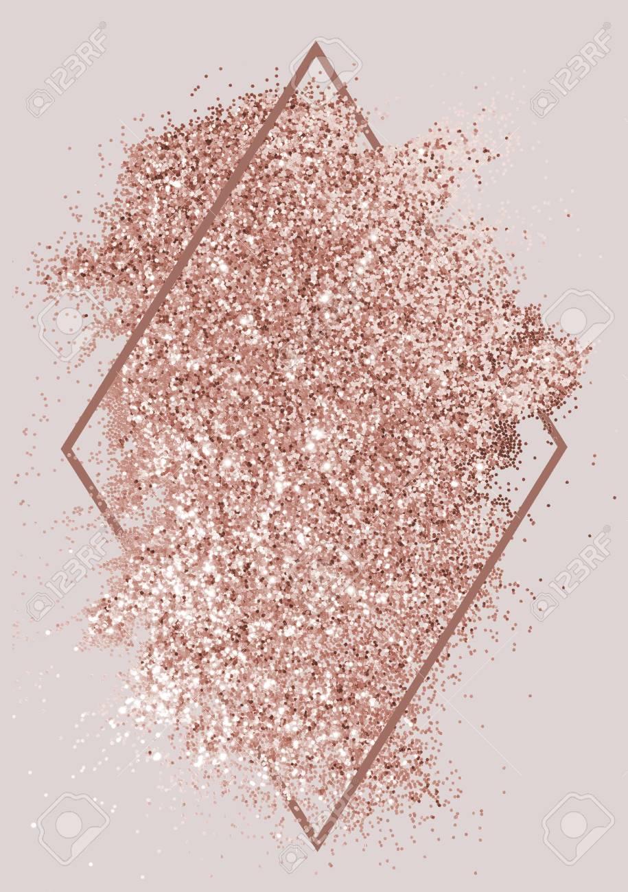 Festive sparkly pink glitter background badge - 116619767