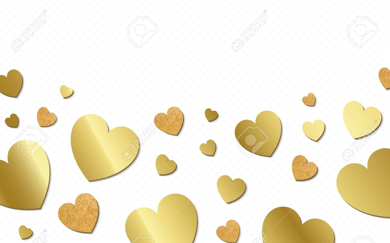 Golden Hearts Background Design Vector Royalty Free Cliparts ...