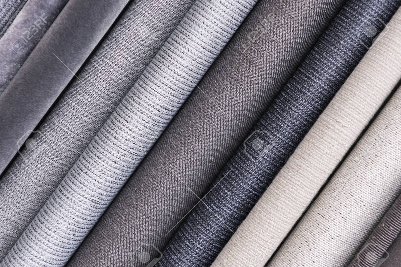 Various fabric material sample background - 117530192
