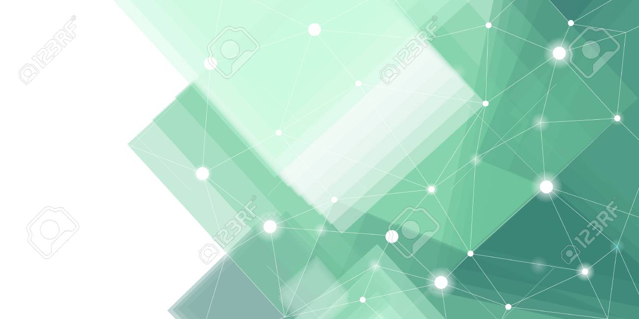 Green and white futuristic technology background vector - 124971261