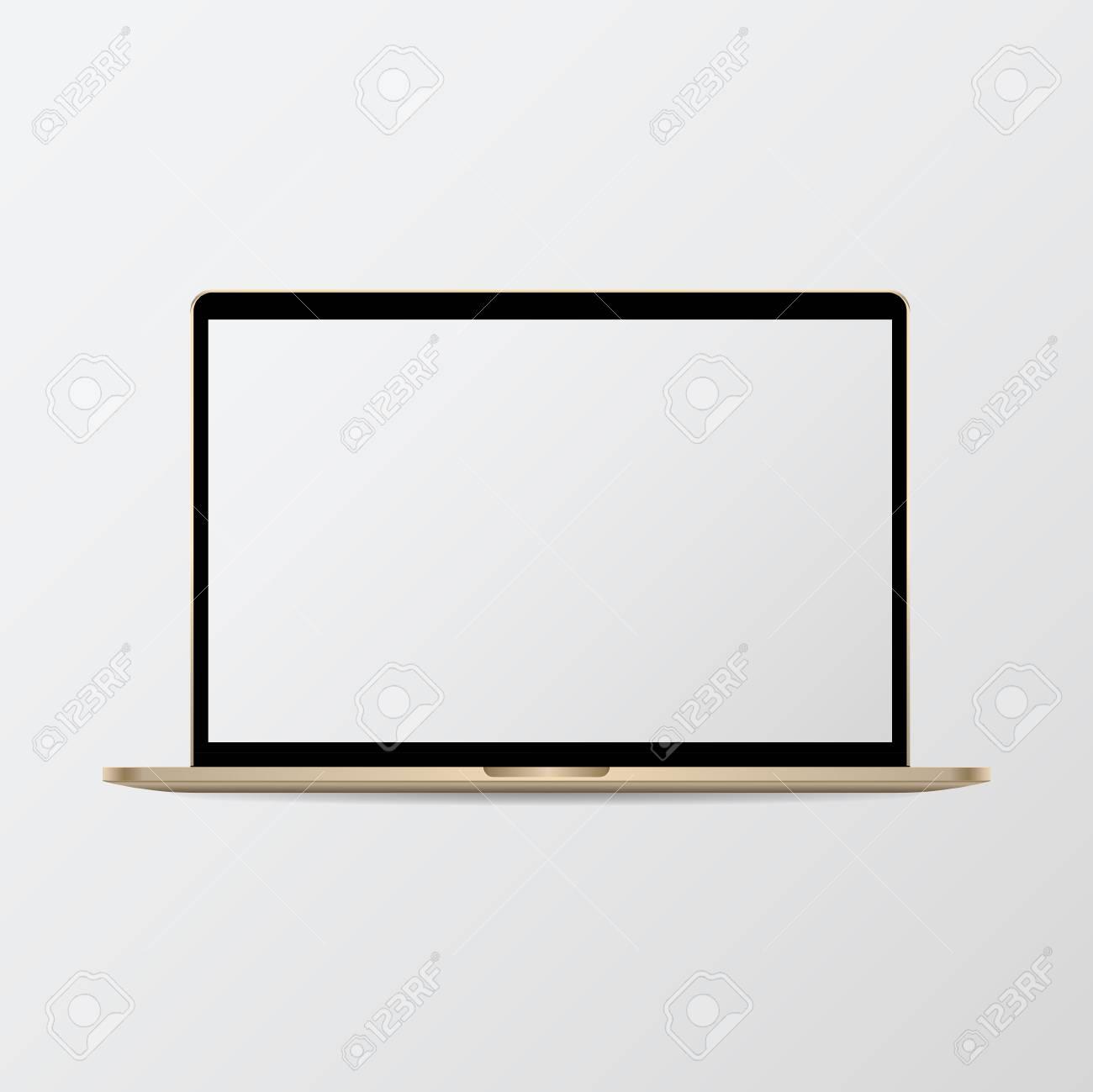 Digital modern notebook screen mockup - 118544348