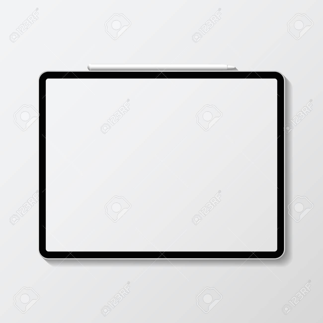 Digital modern tablet screen mockup - 118927739