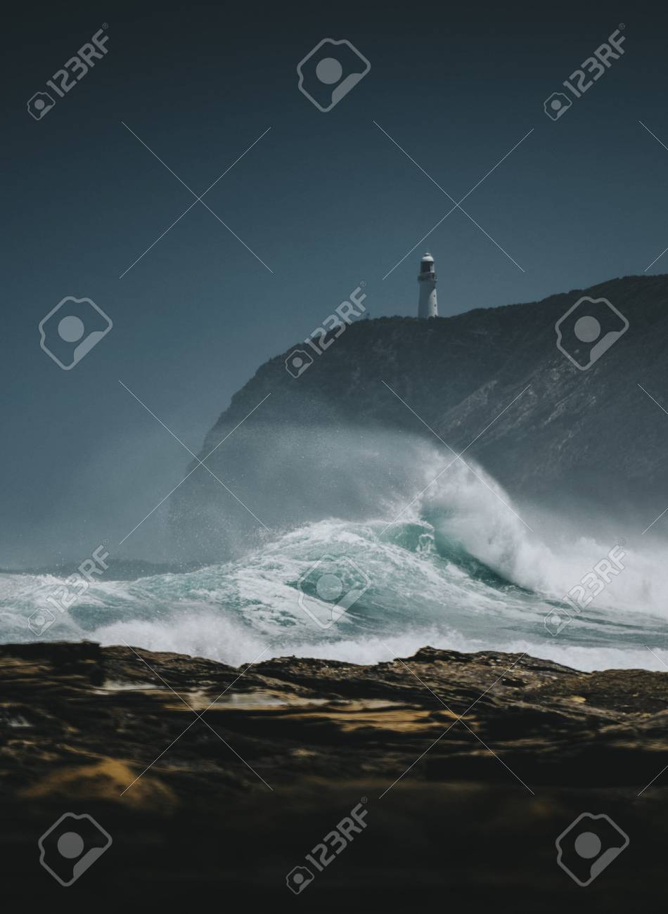 View of the Castle Point Lighthouse, New Zealand - 118993548