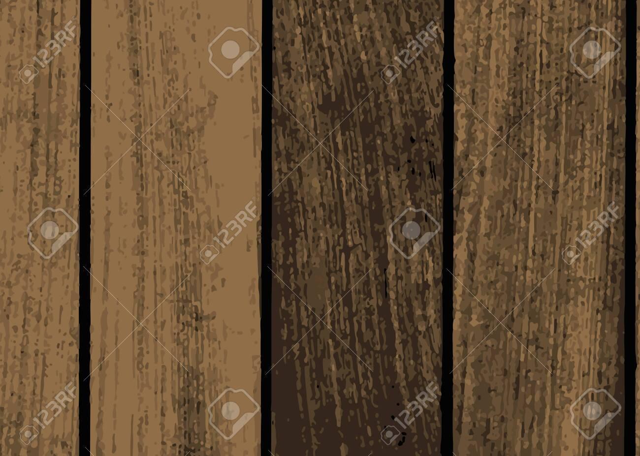 Rustic dark brown wooden textured background vector - 124219967