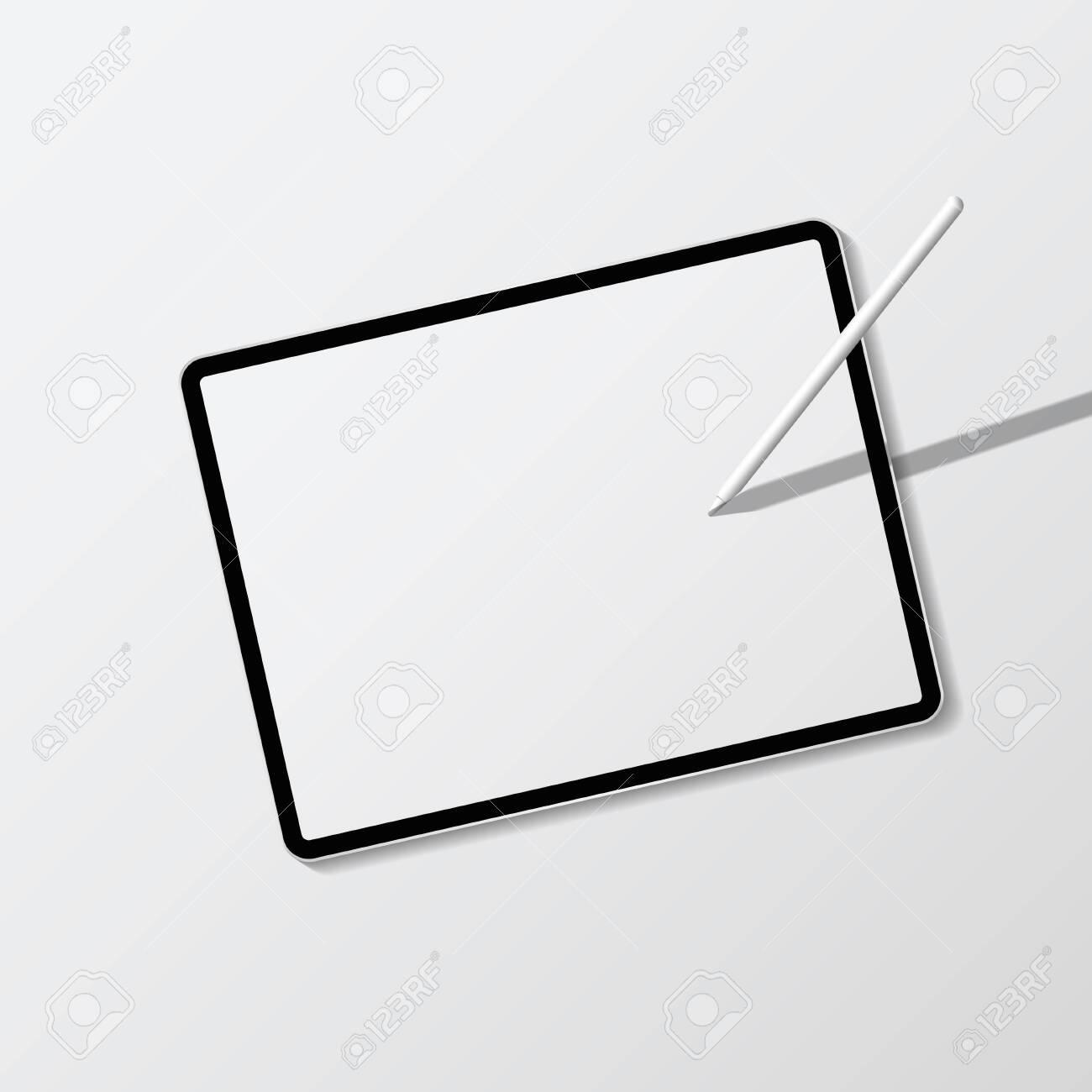 Digital modern tablet screen mockup - 124220018