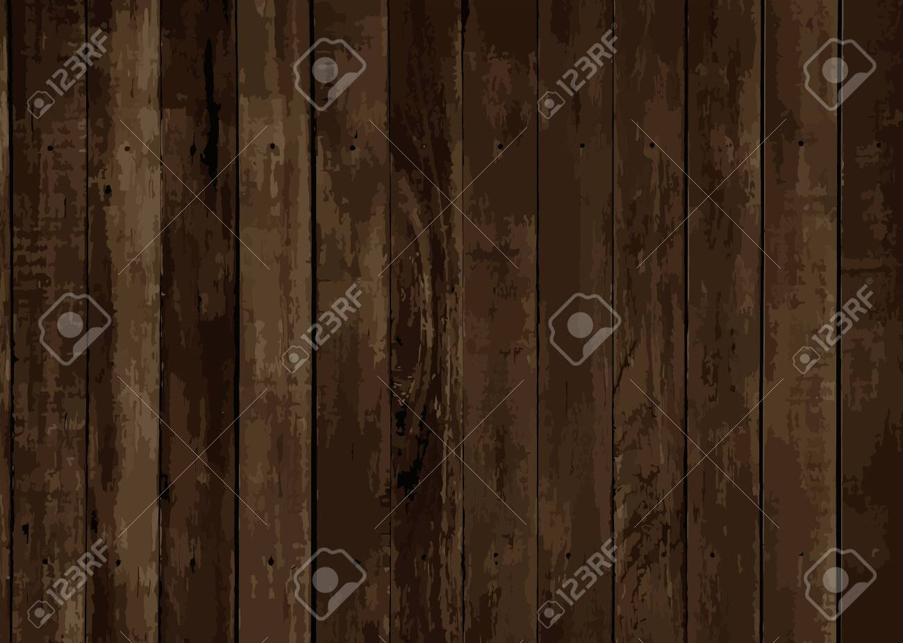 Brown wooden textured background vector - 124142329