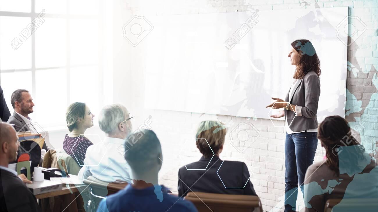 Woman coaching at a seminar - 120205056