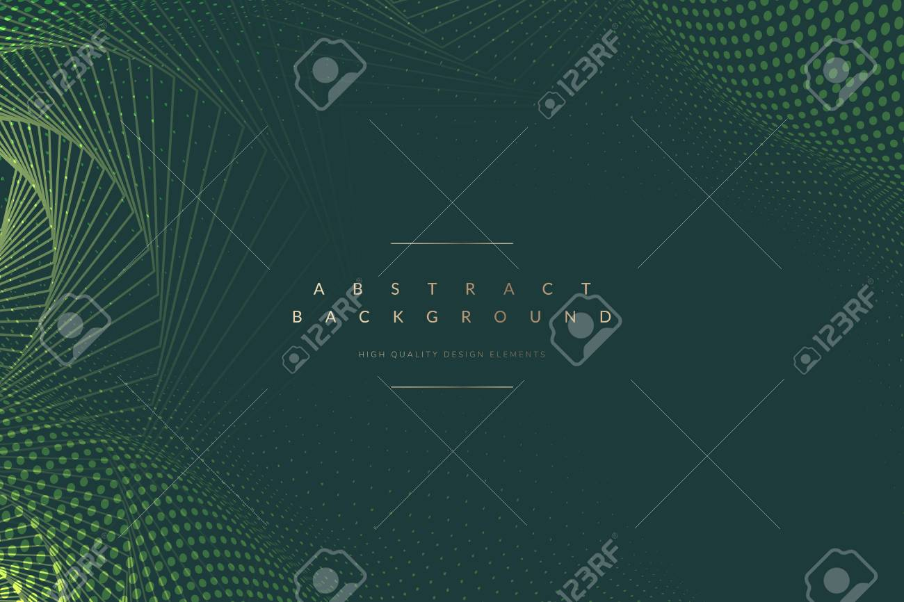 Abstract geometric patterned green background vector - 120458912