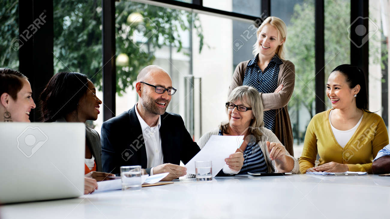 Business people discussing in a meeting - 120343331