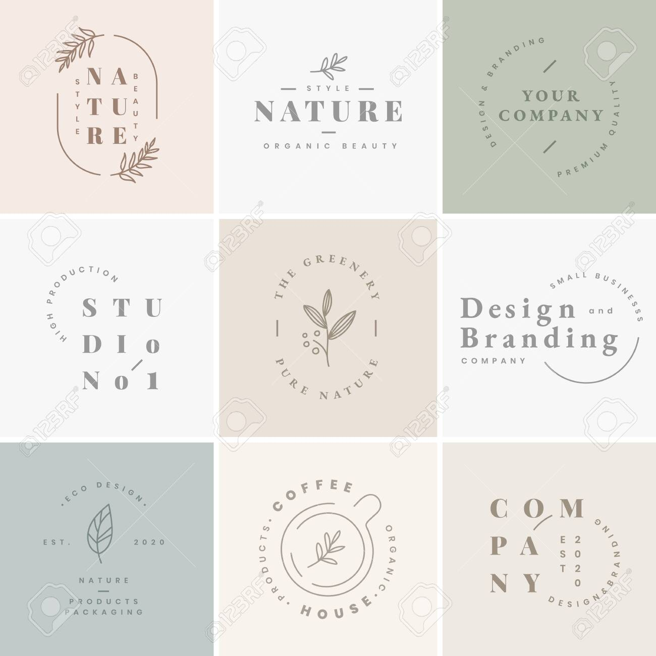 Floral brand and logo designs vector collection - 120963737