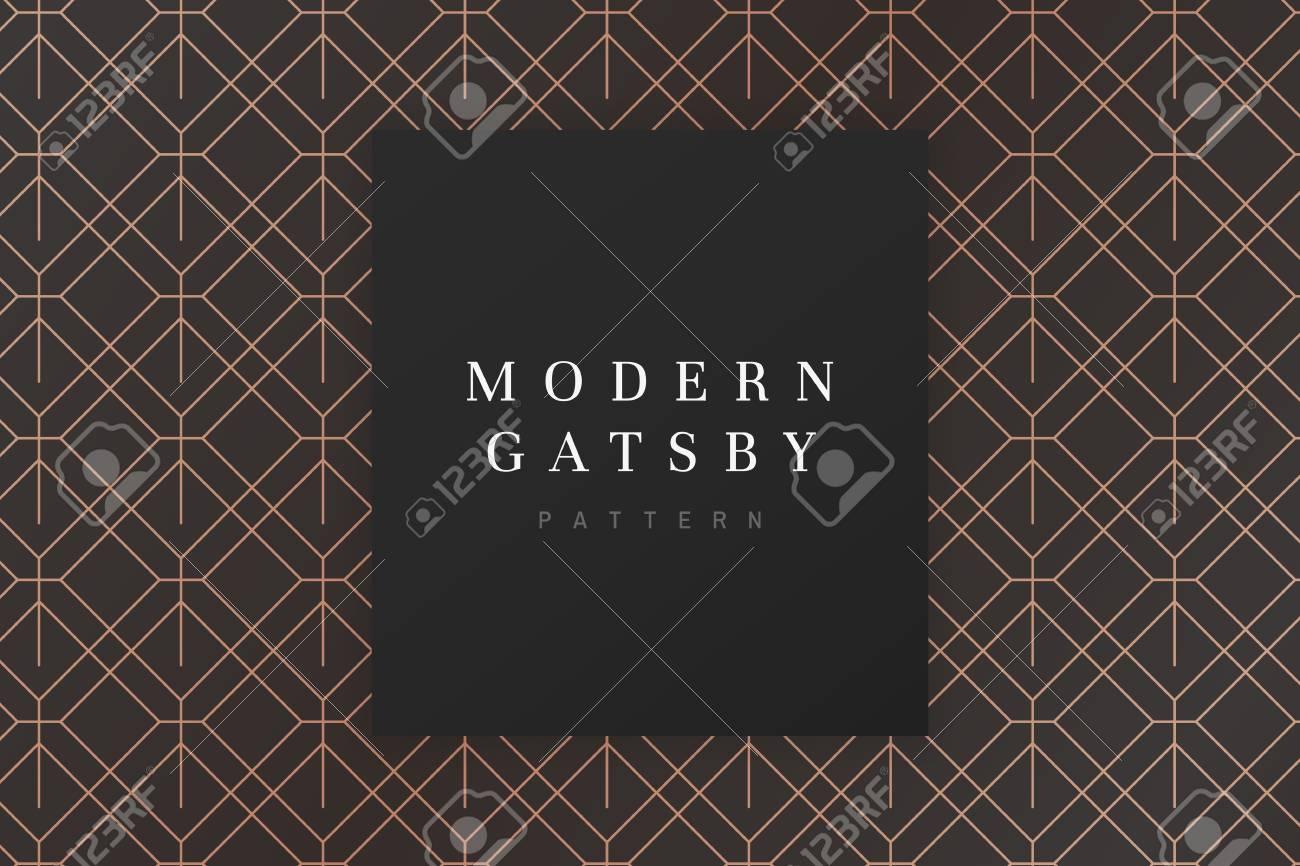 Modern gatsby pattern design vector - 120963889